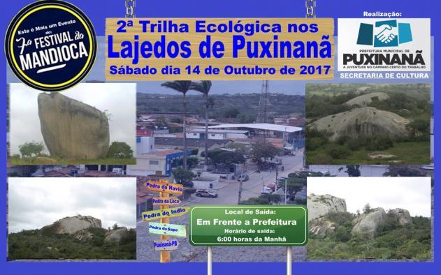 2ª TRILHA ECOLÓGICA NOS LAJEDOS DE PUXINANÃ, DIA 14 DE OUTUBRO DE 2017.