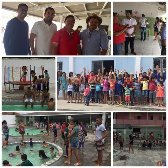 Prefeito Felipe Coutinho, Prestigia Evento do dia das Crianças.