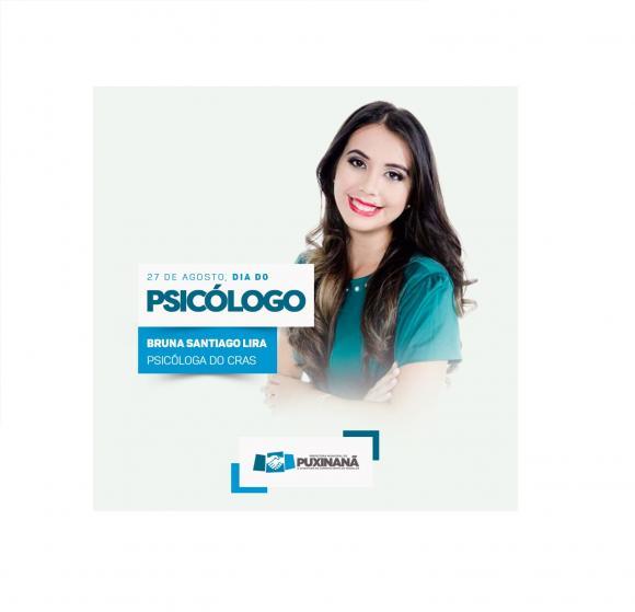A pmp em nome de Bruna Santiago, Deseja um Feliz dia do Psicólogo a todos os profissionais da área.