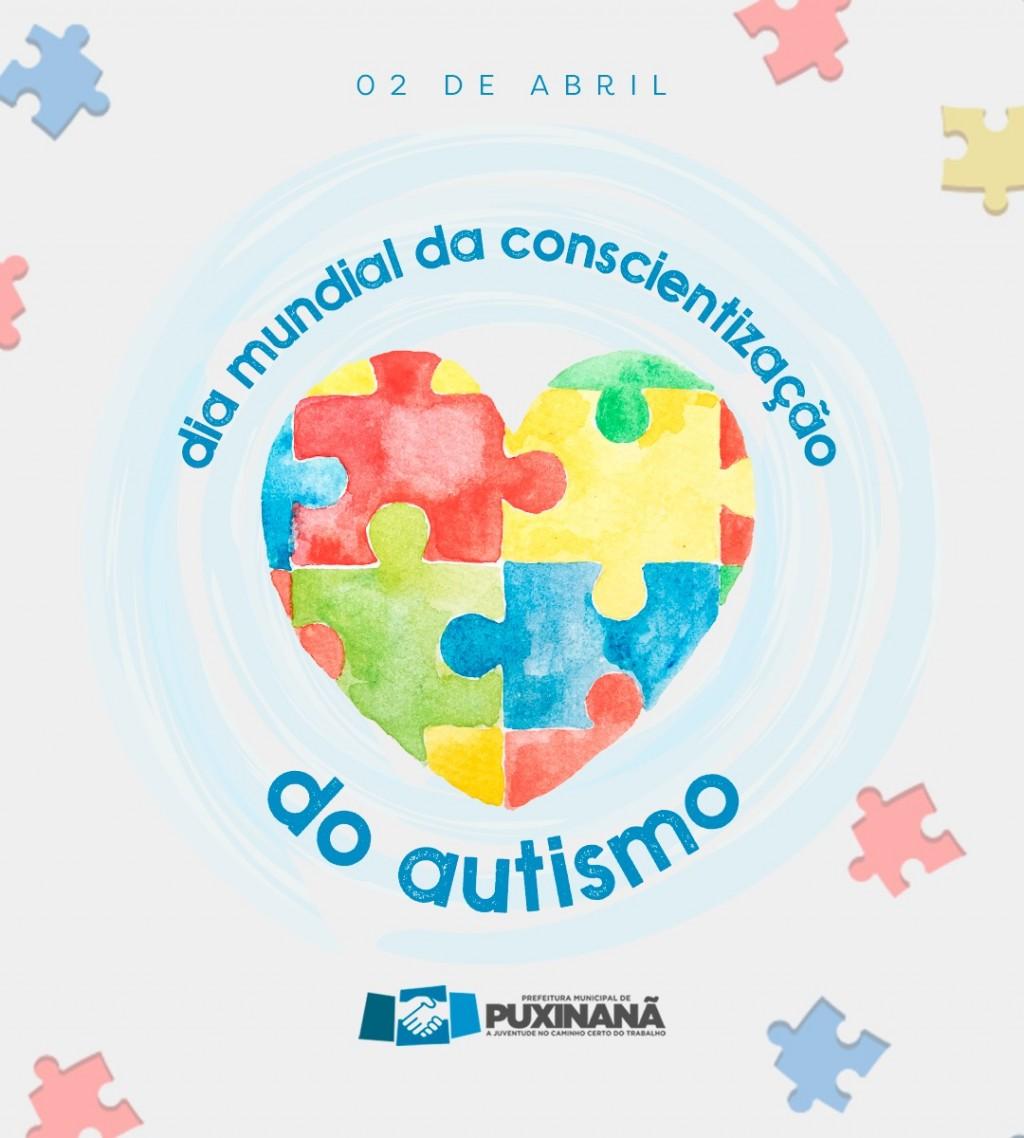02 de Abril, Dia Mundial da Conscientização do Autismo.