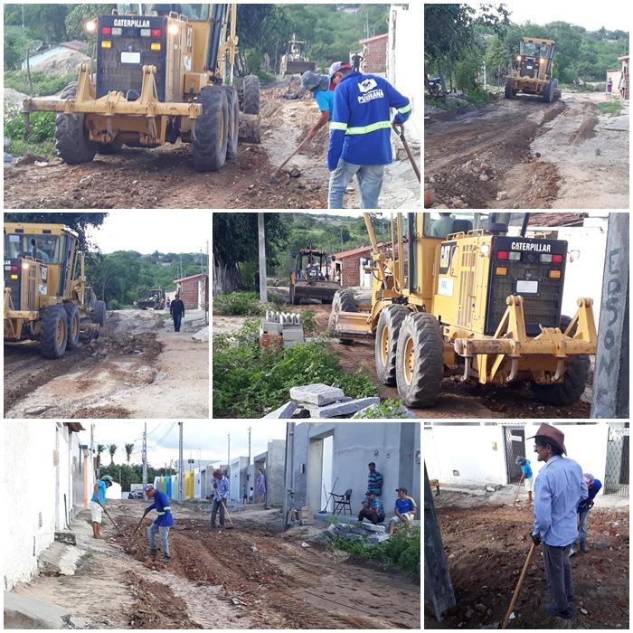 Sinfra realiza recuperação de estradas no Sítio Malícia, e rua Antônio José Lisboa